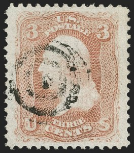 Sale Number 1206, Lot Number 124, 1867-68 Grilled Issue (Scott 79-101)3c Red, F. Grill (94), 3c Red, F. Grill (94)