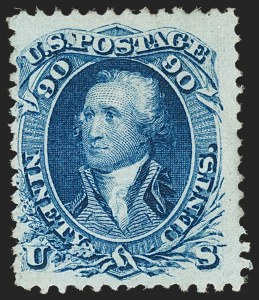 Sale Number 1206, Lot Number 127, 1867-68 Grilled Issue (Scott 79-101)90c Blue, F. Grill (101), 90c Blue, F. Grill (101)