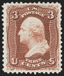 Sale Number 1206, Lot Number 131, 1875 Re-Issue of 1861-66 Issue (Scott 102-111)3c Brown Red, Re-Issue (104), 3c Brown Red, Re-Issue (104)