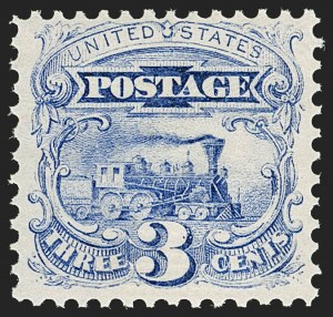 Sale Number 1206, Lot Number 145, 1869 Pictorial Issue (Scott 112-122)3c Ultramarine (114). Mint N.H, 3c Ultramarine (114). Mint N.H