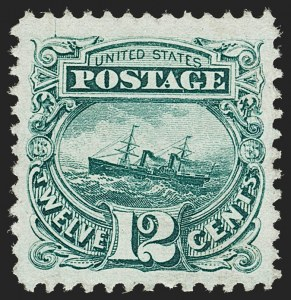 Sale Number 1206, Lot Number 149, 1869 Pictorial Issue (Scott 112-122)12c Green (117), 12c Green (117)