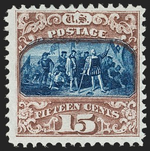 Sale Number 1206, Lot Number 155, 1869 Pictorial Issue (Scott 112-122)15c Brown & Blue, Ty. II (119), 15c Brown & Blue, Ty. II (119)