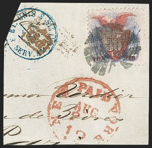 Sale Number 1206, Lot Number 163, 1869 Pictorial Issue (Scott 112-122)30c Ultramarine & Carmine (121), 30c Ultramarine & Carmine (121)