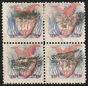 Sale Number 1206, Lot Number 164, 1869 Pictorial Issue (Scott 112-122)30c Ultramarine & Carmine (121), 30c Ultramarine & Carmine (121)