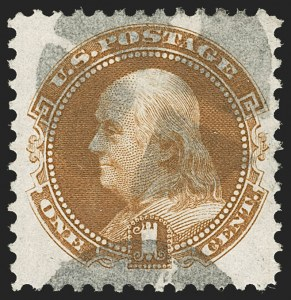 Sale Number 1206, Lot Number 169, 1875 Re-Issue of 1869 Pictorial Issue (Scott 123-133a)1c Buff, Re-Issue (123), 1c Buff, Re-Issue (123)