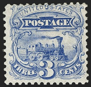 Sale Number 1206, Lot Number 171, 1875 Re-Issue of 1869 Pictorial Issue (Scott 123-133a)3c Blue, Re-Issue (125), 3c Blue, Re-Issue (125)