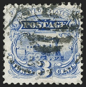Sale Number 1206, Lot Number 172, 1875 Re-Issue of 1869 Pictorial Issue (Scott 123-133a)3c Blue, Re-Issue (125), 3c Blue, Re-Issue (125)