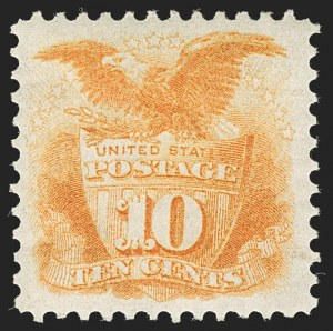 Sale Number 1206, Lot Number 177, 1875 Re-Issue of 1869 Pictorial Issue (Scott 123-133a)10c Yellow, Re-Issue (127), 10c Yellow, Re-Issue (127)