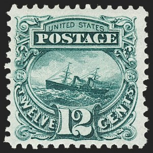 Sale Number 1206, Lot Number 180, 1875 Re-Issue of 1869 Pictorial Issue (Scott 123-133a)12c Green, Re-Issue (128), 12c Green, Re-Issue (128)
