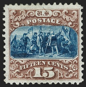 Sale Number 1206, Lot Number 183, 1875 Re-Issue of 1869 Pictorial Issue (Scott 123-133a)15c Brown & Blue, Re-Issue (129), 15c Brown & Blue, Re-Issue (129)