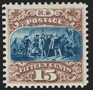 Sale Number 1206, Lot Number 184, 1875 Re-Issue of 1869 Pictorial Issue (Scott 123-133a)15c Brown & Blue, Re-Issue (129), 15c Brown & Blue, Re-Issue (129)