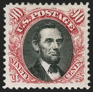 Sale Number 1206, Lot Number 192, 1875 Re-Issue of 1869 Pictorial Issue (Scott 123-133a)90c Carmine & Black, Re-Issue (132), 90c Carmine & Black, Re-Issue (132)