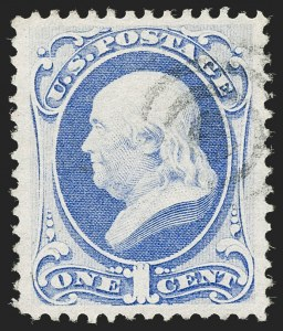 Sale Number 1206, Lot Number 195, 1870-73 Bank Note Issues (Scott 134-166)1c Ultramarine, H. Grill (134), 1c Ultramarine, H. Grill (134)
