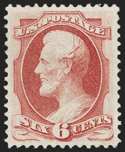 Sale Number 1206, Lot Number 199, 1870-73 Bank Note Issues (Scott 134-166)6c Carmine, H. Grill (137), 6c Carmine, H. Grill (137)