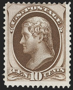 Sale Number 1206, Lot Number 202, 1870-73 Bank Note Issues (Scott 134-166)10c Brown, H. Grill (139), 10c Brown, H. Grill (139)
