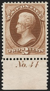 Sale Number 1206, Lot Number 205, 1870-73 Bank Note Issues (Scott 134-166)2c Red Brown (146), 2c Red Brown (146)