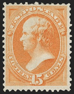 Sale Number 1206, Lot Number 207, 1870-73 Bank Note Issues (Scott 134-166)15c Bright Orange (152), 15c Bright Orange (152)