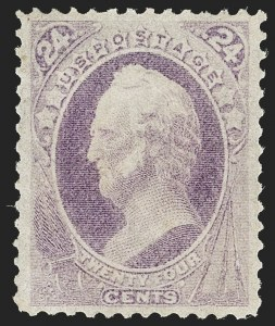 Sale Number 1206, Lot Number 208, 1870-73 Bank Note Issues (Scott 134-166)24c Purple (153), 24c Purple (153)