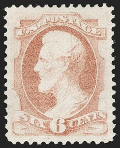 Sale Number 1206, Lot Number 212, 1870-73 Bank Note Issues (Scott 134-166)6c Dull Pink (159), 6c Dull Pink (159)