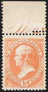 Sale Number 1206, Lot Number 215, 1879-87 Bank Note Issues (Scott 182-218)15c Red Orange (189), 15c Red Orange (189)