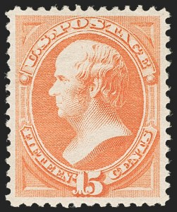 Sale Number 1206, Lot Number 216, 1879-87 Bank Note Issues (Scott 182-218)15c Red Orange (189), 15c Red Orange (189)