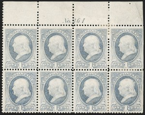 Sale Number 1206, Lot Number 219, 1879-87 Bank Note Issues (Scott 182-218)1c Gray Blue, Punched with 8 Small Holes in Circle (206 var), 1c Gray Blue, Punched with 8 Small Holes in Circle (206 var)
