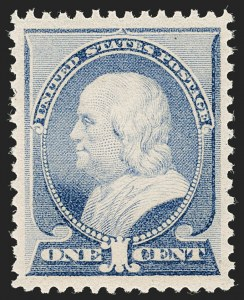 Sale Number 1206, Lot Number 222, 1879-87 Bank Note Issues (Scott 182-218)1c Ultramarine (212), 1c Ultramarine (212)