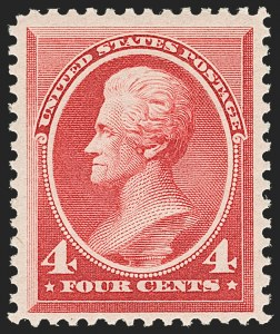 Sale Number 1206, Lot Number 225, 1879-87 Bank Note Issues (Scott 182-218)4c Carmine (215), 4c Carmine (215)