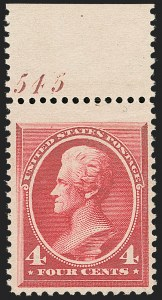 Sale Number 1206, Lot Number 226, 1879-87 Bank Note Issues (Scott 182-218)4c Carmine (215), 4c Carmine (215)