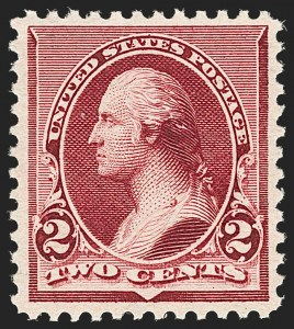 Sale Number 1206, Lot Number 231, 1890-93 Issue (Scott 219-229)2c Lake (219D), 2c Lake (219D)