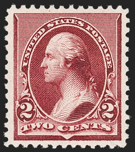 Sale Number 1206, Lot Number 232, 1890-93 Issue (Scott 219-229)2c Lake (219D), 2c Lake (219D)