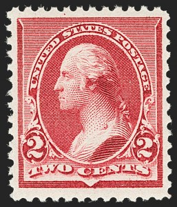 "Sale Number 1206, Lot Number 234, 1890-93 Issue (Scott 219-229)2c Carmine, Cap on Left ""2"" (220a), 2c Carmine, Cap on Left ""2"" (220a)"