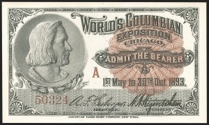 Sale Number 1206, Lot Number 240, 1893 Columbian Issue (Scott 230-245)Columbian Exposition Tickets, Columbian Exposition Tickets