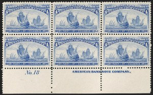 Sale Number 1206, Lot Number 242, 1893 Columbian Issue (Scott 230-245)4c Columbian (233), 4c Columbian (233)