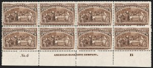 Sale Number 1206, Lot Number 243, 1893 Columbian Issue (Scott 230-245)5c Columbian (234), 5c Columbian (234)