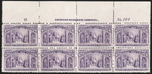 Sale Number 1206, Lot Number 246, 1893 Columbian Issue (Scott 230-245)6c Columbian (235), 6c Columbian (235)