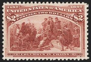 Sale Number 1206, Lot Number 254, 1893 Columbian Issue (Scott 230-245)$2.00 Columbian (242), $2.00 Columbian (242)