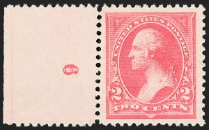 Sale Number 1206, Lot Number 260, 1894 Unwatermarked Bureau Issue (Scott 246-263)2c Pink, Ty. I (248), 2c Pink, Ty. I (248)