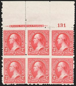Sale Number 1206, Lot Number 266, 1894 Unwatermarked Bureau Issue (Scott 246-263)2c Scarlet, Ty. II (251a), 2c Scarlet, Ty. II (251a)