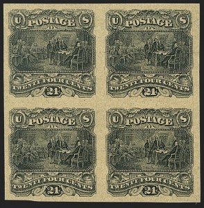 Sale Number 1206, Lot Number 27, Essays and Proofs24c Black on Dull Yellow Tinted, Small Numeral Plate Essay on India (120-E2e), 24c Black on Dull Yellow Tinted, Small Numeral Plate Essay on India (120-E2e)