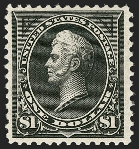 Sale Number 1206, Lot Number 279, 1894 Unwatermarked Bureau Issue (Scott 246-263)$1.00 Black (261), $1.00 Black (261)