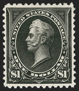 Sale Number 1206, Lot Number 281, 1894 Unwatermarked Bureau Issue (Scott 246-263)$1.00 Black, Ty. II (261A), $1.00 Black, Ty. II (261A)