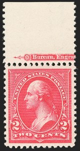 Sale Number 1206, Lot Number 283, 1895 Watermarked Bureau Issue (Scott 264-278)2c Carmine, Ty. I (265), 2c Carmine, Ty. I (265)