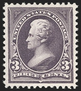 Sale Number 1206, Lot Number 284, 1895 Watermarked Bureau Issue (Scott 264-278)3c Purple (268), 3c Purple (268)