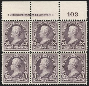 Sale Number 1206, Lot Number 286, 1895 Watermarked Bureau Issue (Scott 264-278)3c Purple (268), 3c Purple (268)