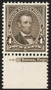 Sale Number 1206, Lot Number 287, 1895 Watermarked Bureau Issue (Scott 264-278)4c Dark Brown (269), 4c Dark Brown (269)