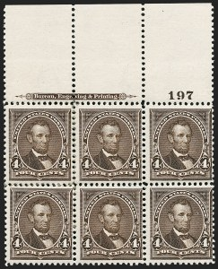 Sale Number 1206, Lot Number 288, 1895 Watermarked Bureau Issue (Scott 264-278)4c Dark Brown (269), 4c Dark Brown (269)