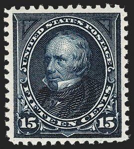 Sale Number 1206, Lot Number 294, 1895 Watermarked Bureau Issue (Scott 264-278)15c Dark Blue (274), 15c Dark Blue (274)