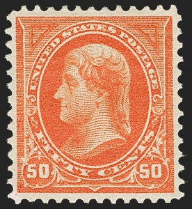 Sale Number 1206, Lot Number 295, 1895 Watermarked Bureau Issue (Scott 264-278)50c Orange (275), 50c Orange (275)