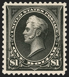 Sale Number 1206, Lot Number 296, 1895 Watermarked Bureau Issue (Scott 264-278)$1.00 Black, Ty. I (276), $1.00 Black, Ty. I (276)